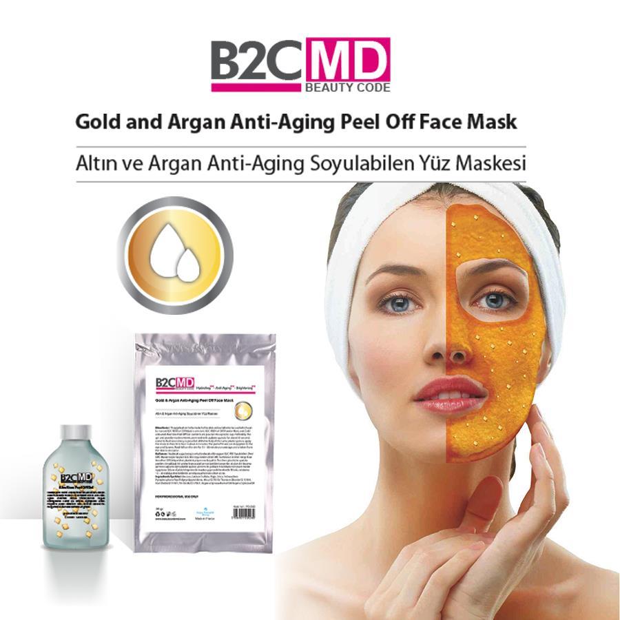 Altın ve Argan Anti-Aging Soyulabilen (Peel Off) Yüz Maskesi Bakım Seti