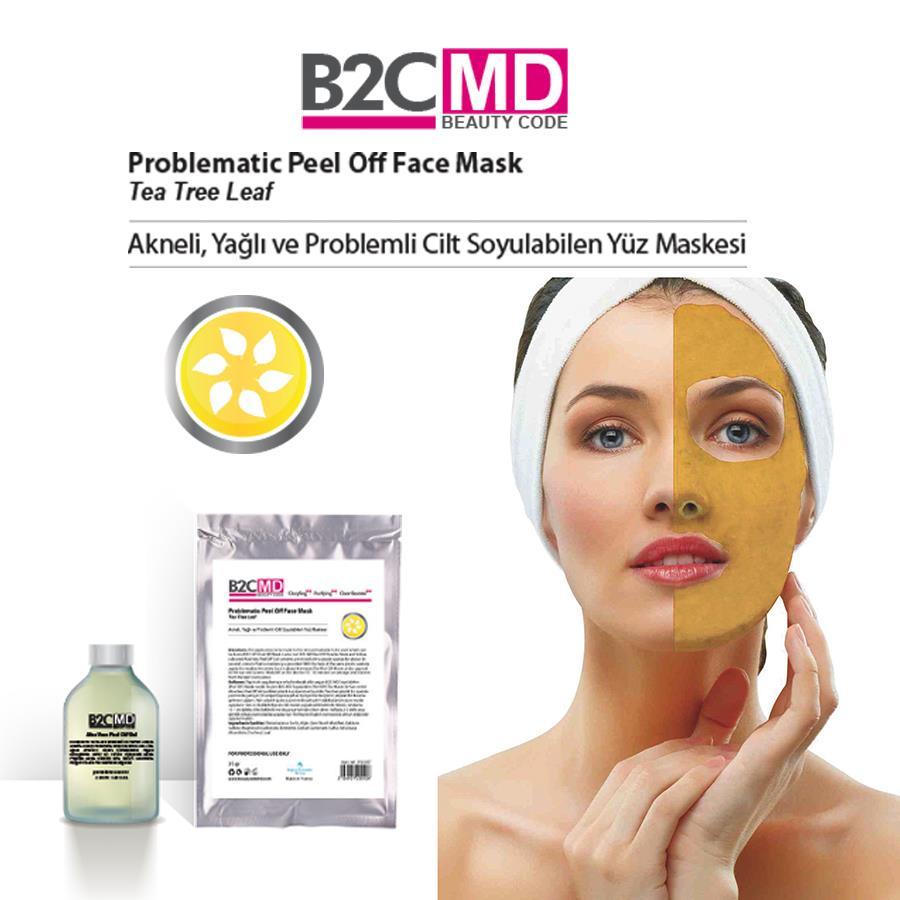Akneli, Yağlı & Problemli Cilt - Çay Ağacı - Soyulabilen (Peel Off) Yüz Maskesi