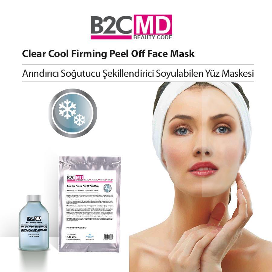 Arındırıcı Soğutucu Şekillendirici Soyulabilen Yüz Maskesi Bakım Seti