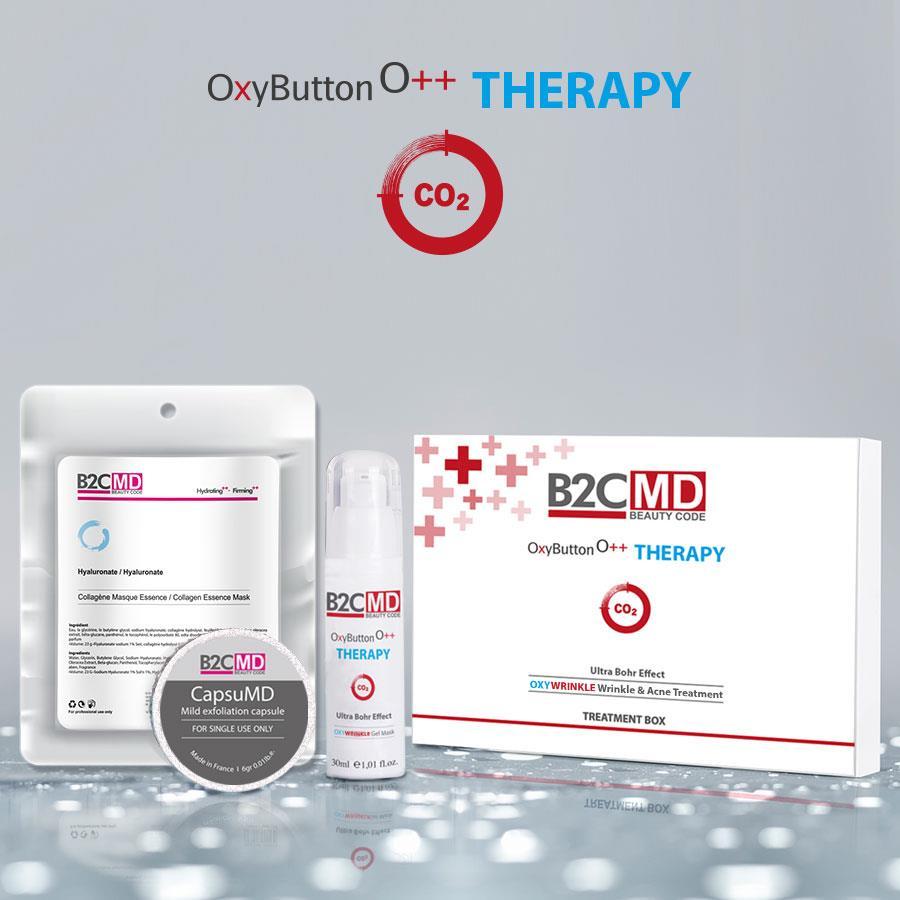OxyButton CO2 Terapi OxyWrinkle Tedavi Kiti (Kırışıklık & Akne Tedavisi)